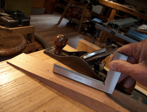flattening neck to receive heel block