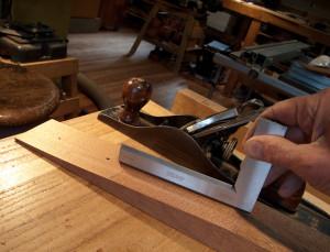flattening neck to receive heel block