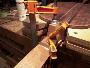 gluing heel block to neck with box in place